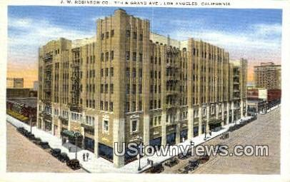 JW Robinson Co. - Los Angeles, California CA Postcard