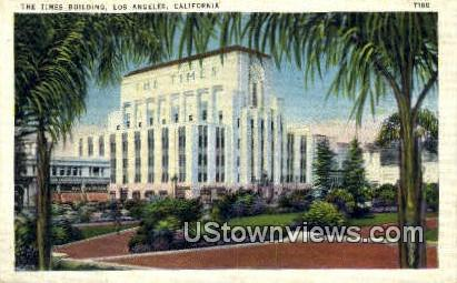 Times Bldg - Los Angeles, California CA Postcard