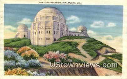 Planetarium - Hollywood, California CA Postcard