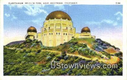 Griffith Park, Planetarium - Hollywood, California CA Postcard