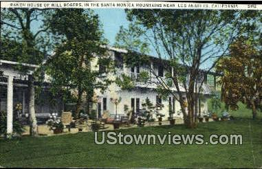 Ranch House, Will Rogers - Los Angeles, California CA Postcard