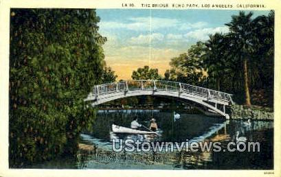 The Bridge, Echo Park - Los Angeles, California CA Postcard