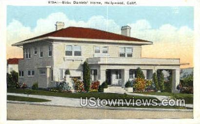 Bebe Daniels' Home - Hollywood, California CA Postcard