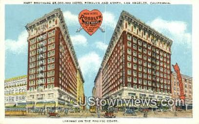 Hotel Rosslyn & Annex - Los Angeles, California CA Postcard