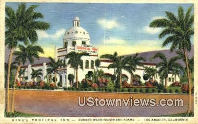 King's Tropical Inn - Los Angeles, California CA Postcard