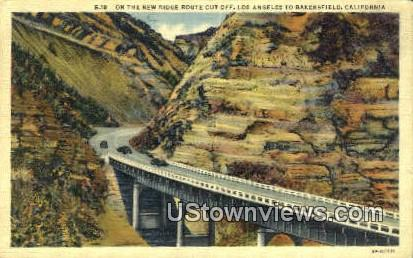 New Ridge Route Cut Off - Los Angeles, California CA Postcard