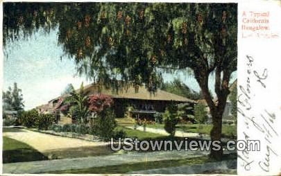 Bungalow - Los Angeles, California CA Postcard