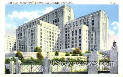 Los Angeles General Hospital - California CA Postcard