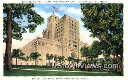 Elks Temple - Los Angeles, California CA Postcard