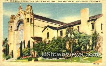 Immaculate Conception Church - Los Angeles, California CA Postcard