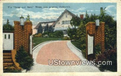 Doug & Mary Home - Los Angeles, California CA Postcard