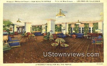 New Rosslyn Hotels - Los Angeles, California CA Postcard