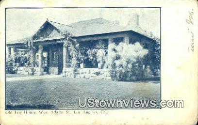 Old Log House - Los Angeles, California CA Postcard