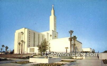 Church of Jesus Christ - Los Angeles, California CA Postcard