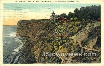 Point Firmin, Lighthouse - Los Angeles, California CA Postcard