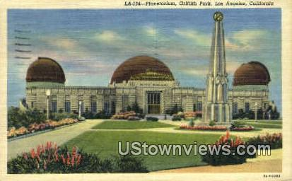 Griffith Park, Planetarium - Los Angeles, California CA Postcard