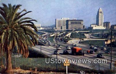 New Hollywood Freeway - California CA Postcard