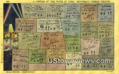 Floor of Fame - Hollywood, California CA Postcard