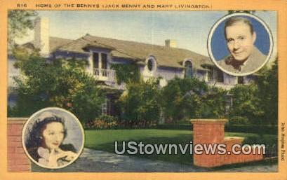 Home of the Bennys - Los Angeles, California CA Postcard