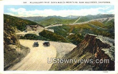 Mulholland Drive - Hollywood, California CA Postcard