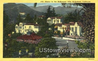 Hollywood Hills - California CA Postcard