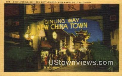 Enchanting Chinese Settlement - Los Angeles, California CA Postcard
