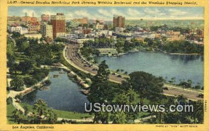 Gen Douglas MacArthur Park - Los Angeles, California CA Postcard