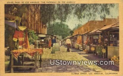 El Paso De Los Angeles - California CA Postcard