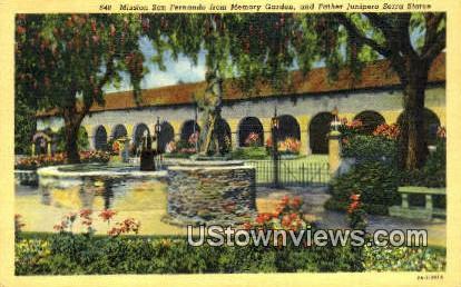 Mission San Fernando - Los Angeles, California CA Postcard