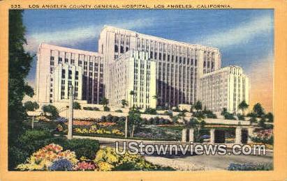 Los Angeles General Hospital - California CA Postcard