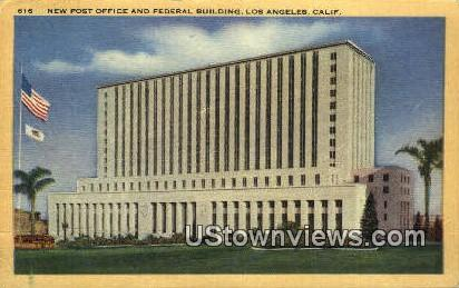 New Post Office & Federal Bldg - Los Angeles, California CA Postcard