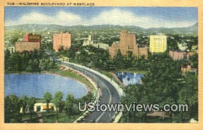 Whilshire Blvd - Los Angeles, California CA Postcard