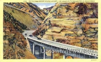 New Ridge Route Cut Off - Los Angeles, California CA Postcard