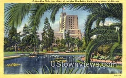 Elks Club, Gen MacArthur Park - Los Angeles, California CA Postcard