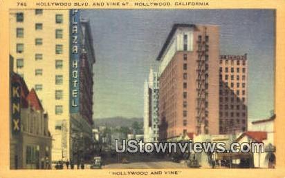 Hollywood Blvd - California CA Postcard