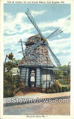 Van De Kamp's Holland Dutch Bakers - Los Angeles, California CA Postcard
