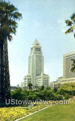 City Hall, Los Angeles - California CA Postcard