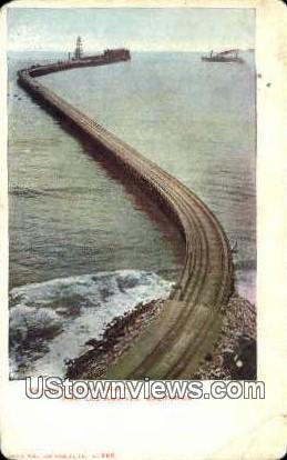 Mammoth Wharf - Los Angeles, California CA Postcard
