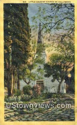 Little Country Church of Hollywood - California CA Postcard