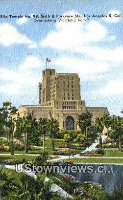 Elks Temple - Los Angeles, California CA Postcard