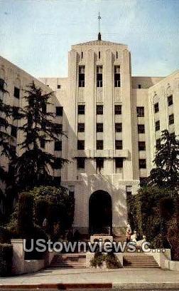 Lebanon Hospital - Hollywood, California CA Postcard