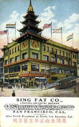 Sing Fat Co. - San Francisco, California CA Postcard