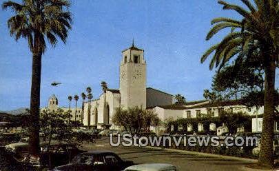 Los Angeles Union Station - California CA Postcard