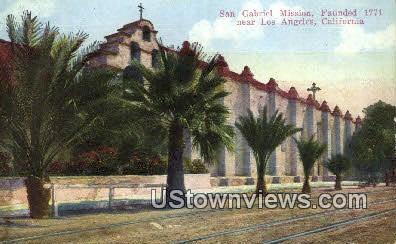 San Gabriel Mission - Los Angeles, California CA Postcard
