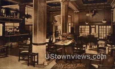 Lobby Gates Hotel - Los Angeles, California CA Postcard