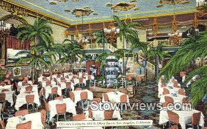 Clifton's Cafeteria - Los Angeles, California CA Postcard