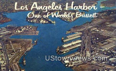 Los Angeles Harbor - California CA Postcard