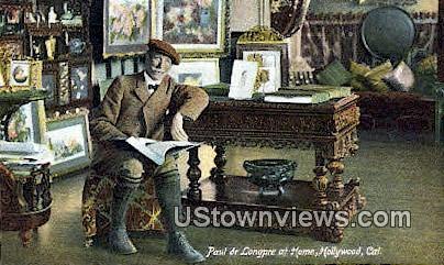 Paul De Longpre - Hollywood, California CA Postcard