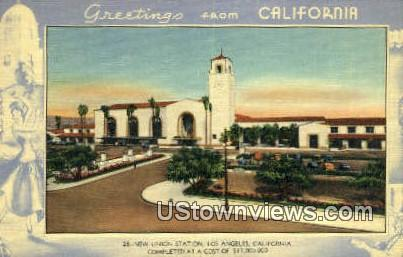 New Union Station - Los Angeles, California CA Postcard