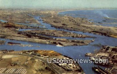 Long Beach Harbor - Los Angeles, California CA Postcard